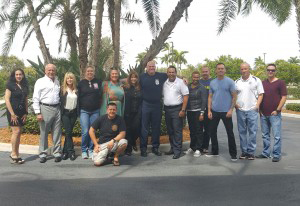Cali with First Responder Training Students